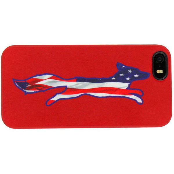 Phone/Computer - IPhone 5/5s Cover In Patriotic Red By Country Club Prep - FINAL SALE