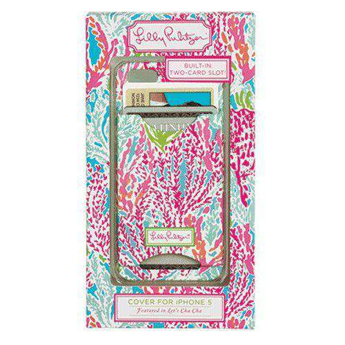 iPhone 5/5s Cover with Card Slots in Let's Cha Cha by Lilly Pulitzer