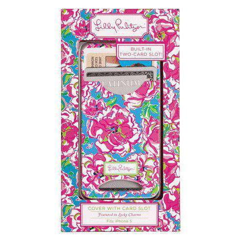 iPhone 5/5s Cover with Card Slots in Lucky Charms by Lilly Pulitzer