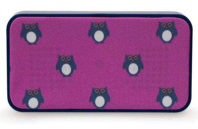Phone/Computer - Owl Portable Speaker In Pink By Sloane Ranger