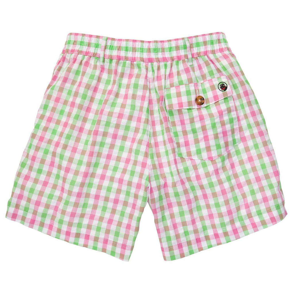 Pink and Green Seersucker Shorts by Southern Proper  - 2