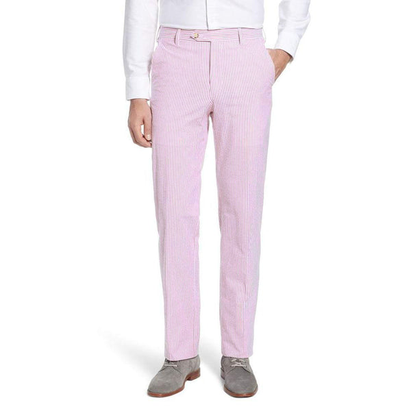 Pink Seersucker Pants by Country Club Prep