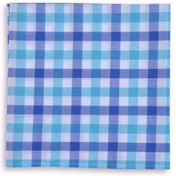Pocket Squares - Battery Check Pocket Square In Blue By High Cotton