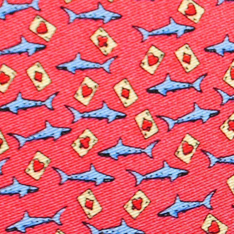 Pocket Squares - Card Shark Pocket Square In Red By Peter-Blair