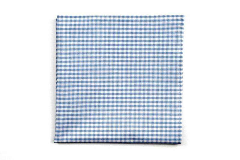 Pocket Squares - Carolina Blue Gingham Pocket Square By High Cotton