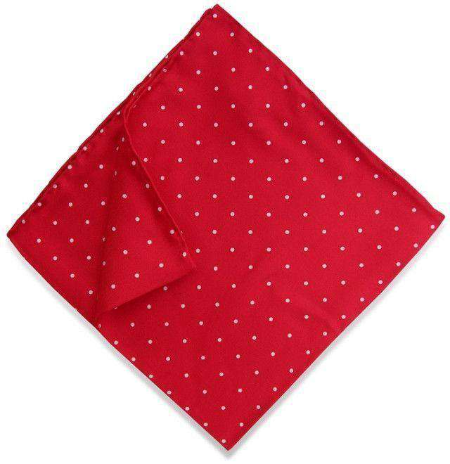 Pocket Squares - Classic Spots Pocket Square In Red By Bird Dog Bay