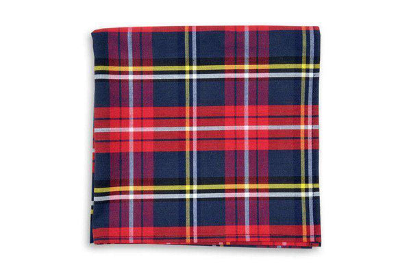 Fletcher Plaid Pocket Square by High Cotton
