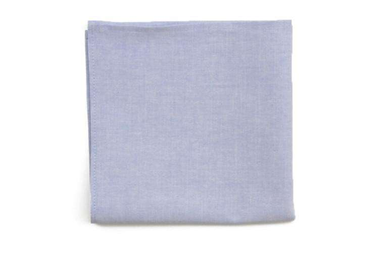 Light Blue Chambray Pocket Square by High Cotton