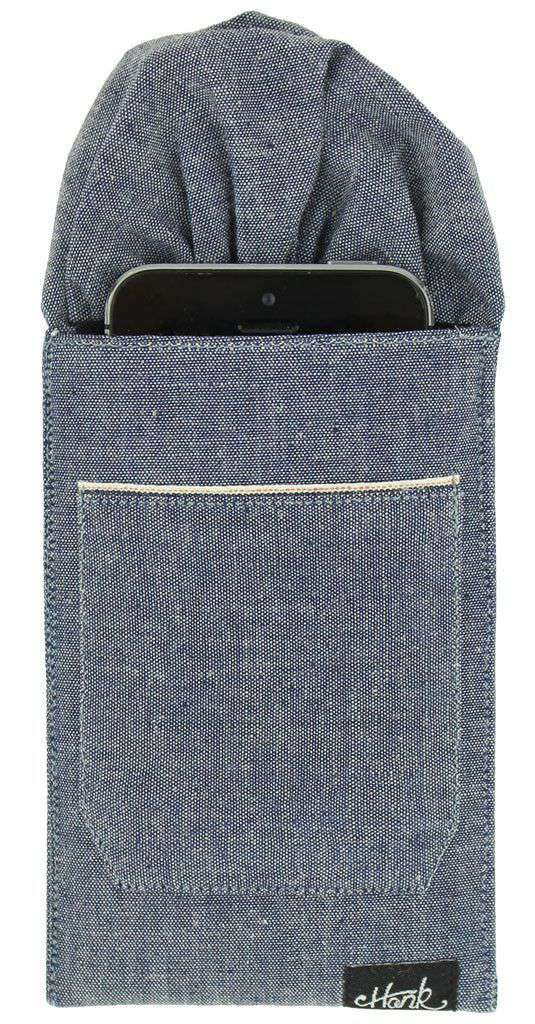 Pocket Squares - The Selvager Pocket Square In Denim By Hank - FINAL SALE