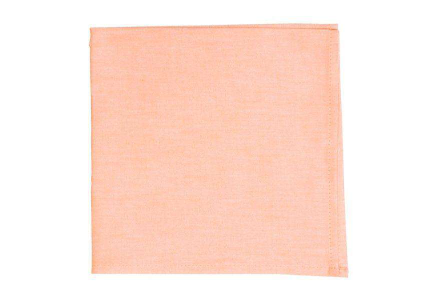 Pocket Squares - Washed Orange Chambray Pocket Square By High Cotton
