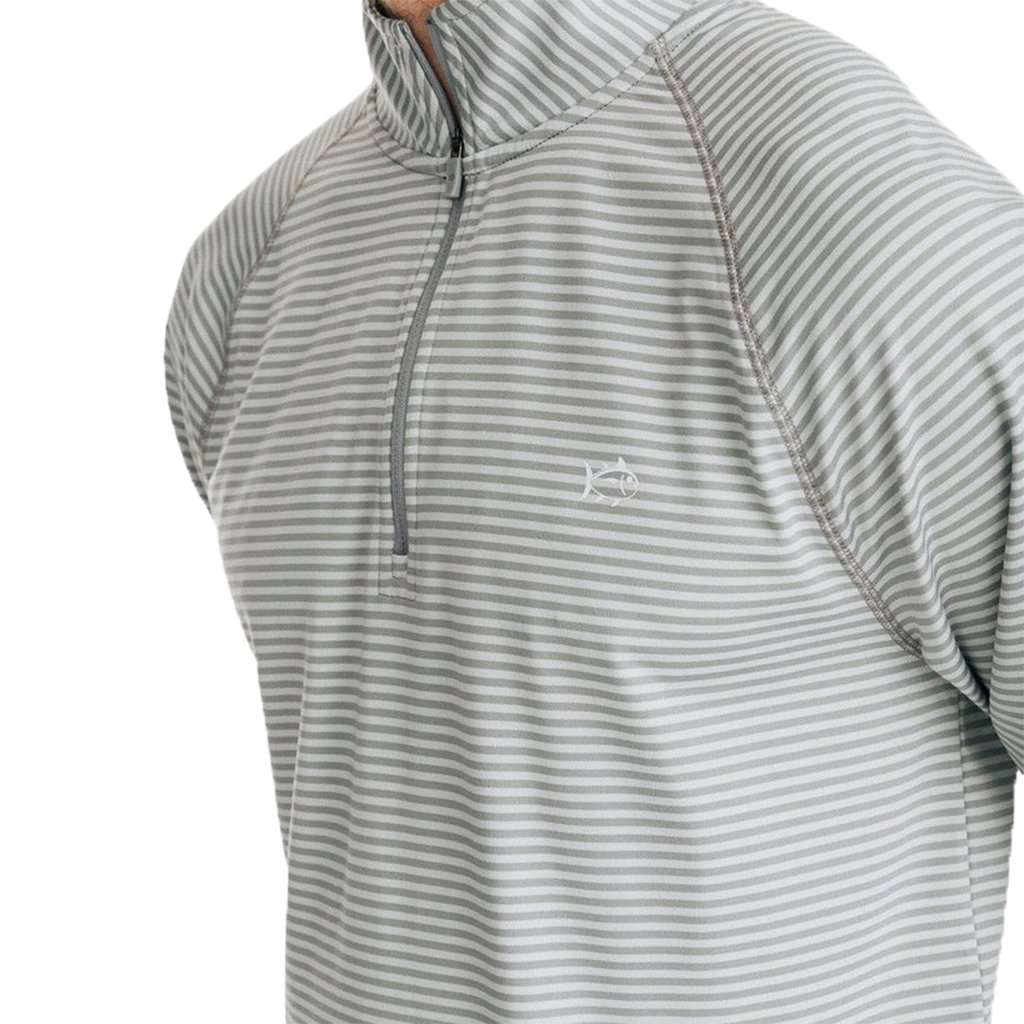 Portola Striped Performance Quarter Zip Pullover by Southern Tide