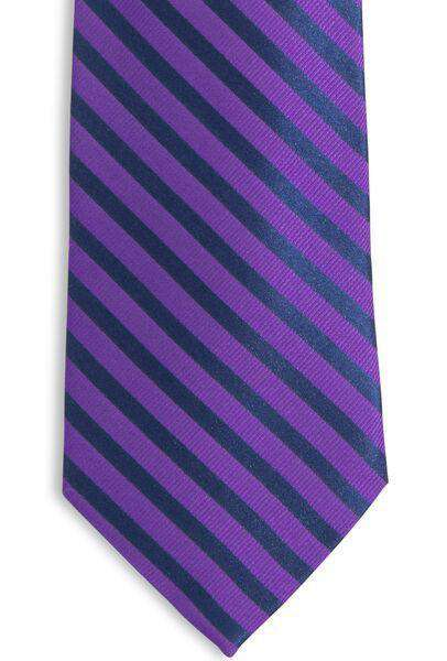 The Gameday Stripe Tie in Regal Purple by Southern Tide