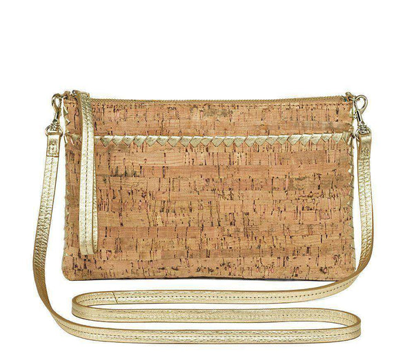 Alaina Crossbody in Natural Cork and Gold by Jack Rogers