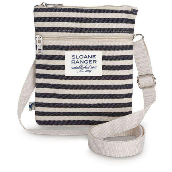 Denim Stripe Crossbody Bag by Sloane Ranger