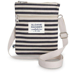 Purses - Denim Stripe Crossbody Bag By Sloane Ranger