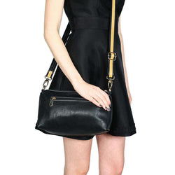 Purses - Faux Leather Cross Body Bag In Black By Street Level - FINAL SALE