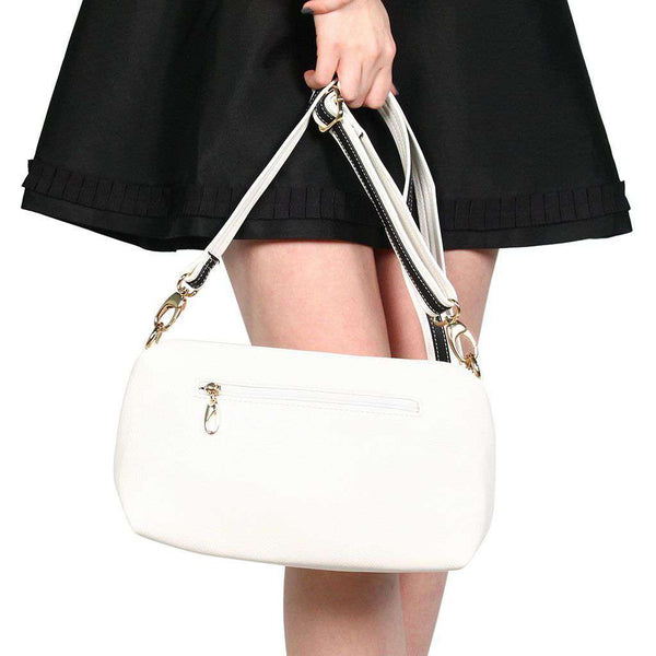 Faux Leather Cross Body Bag in Ivory by Street Level - FINAL SALE