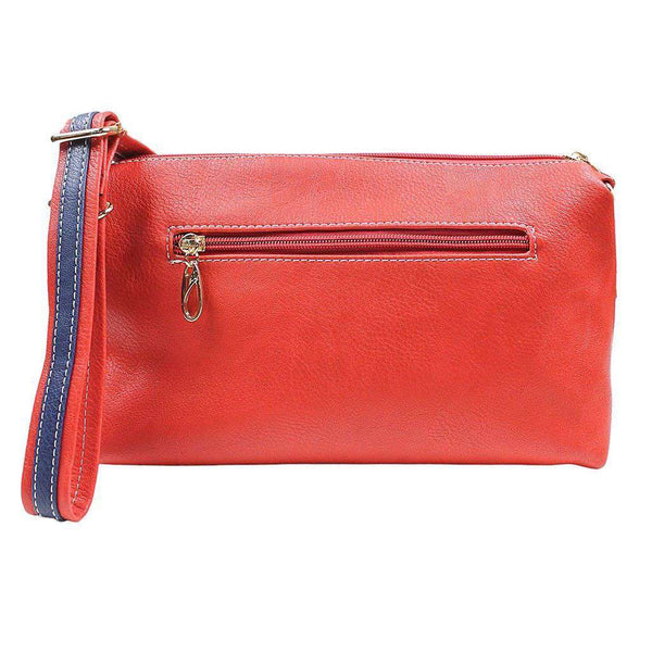 Faux Leather Cross Body Bag in Red by Street Level - FINAL SALE