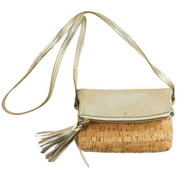 Gioia Mini Convertible Crossbody in Natural Cork and Gold by Jack Rogers