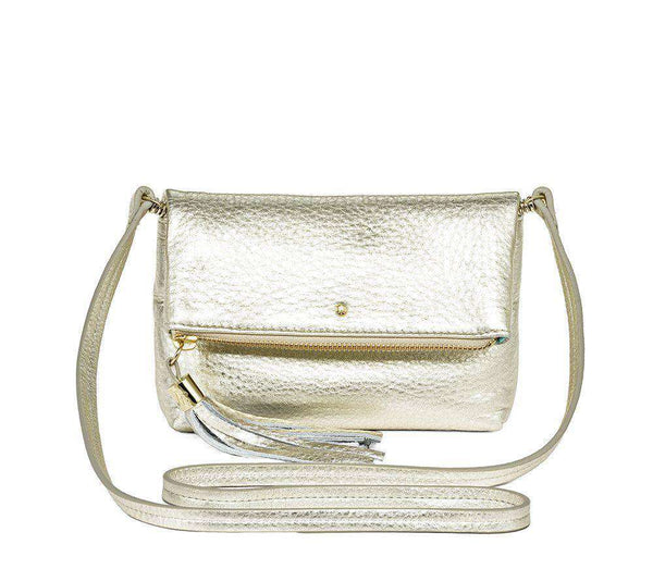 Gioia Mini Convertible Platinum Cross Body Bag by Jack Rogers