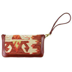 Purses - Kilim Wristlet Purse In Tribal Cream By Res Ipsa