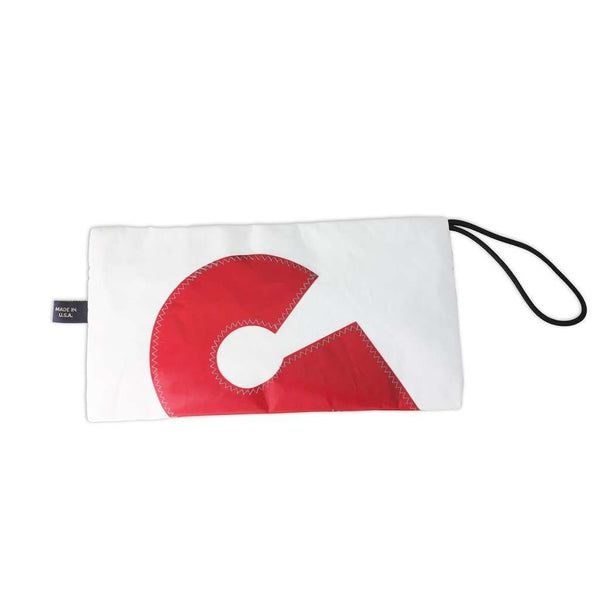 Zip Pouch in White by Ella Vickers