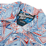 Rad Patriot Hawaiian Shirt in White by Rowdy Gentleman  - 2