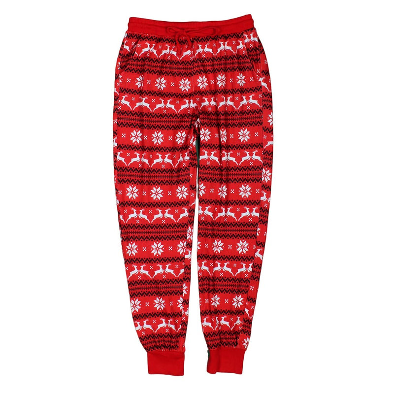 Reindeer Christmas Joggers by Nordic Fleece