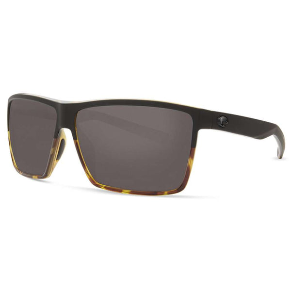 Rincon Sunglasses in Black & Shiny Tortoise with Gray Polarized Glass Lenses by Costa del Mar