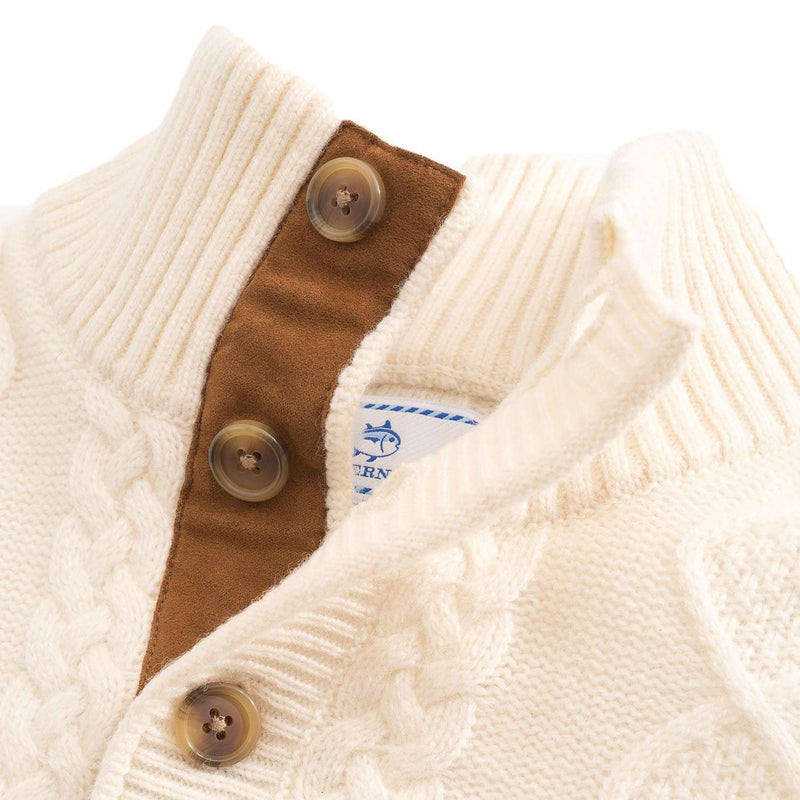 Riverdale Corded Pullover in Marshmallow by Southern Tide - FINAL SALE