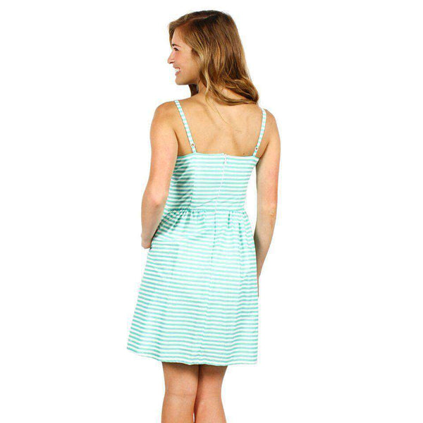 The Briana Dress in Seafoam and White Stripe by Dayton K - FINAL SALE