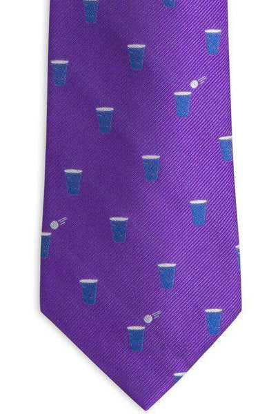 The Splash Collegiate Tie in Regal Purple by Southern Tide