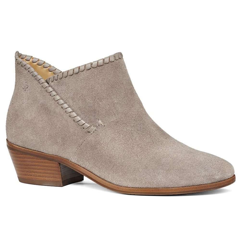 Sadie Suede Bootie in Light Grey by Jack Rogers