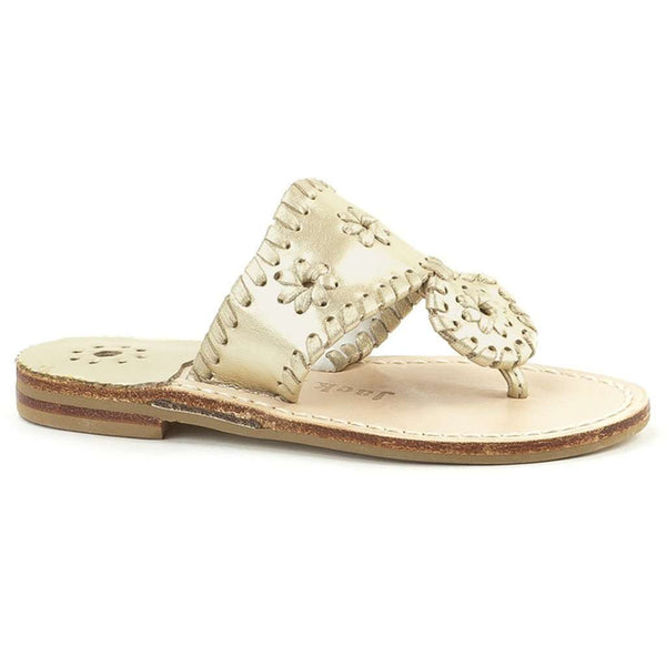 Sandals - Girls' Miss Hamptons Sandal In Platinum By Jack Rogers - FINAL SALE