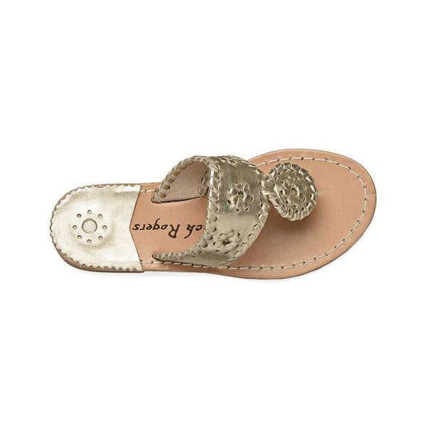Young Girls' Miss Hamptons Sandal in Platinum by Jack Rogers