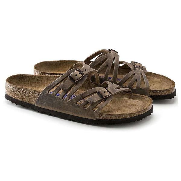 Women's Granada Sandal in Tobacco Brown Oiled Leather with Soft Footbed by Birkenstock