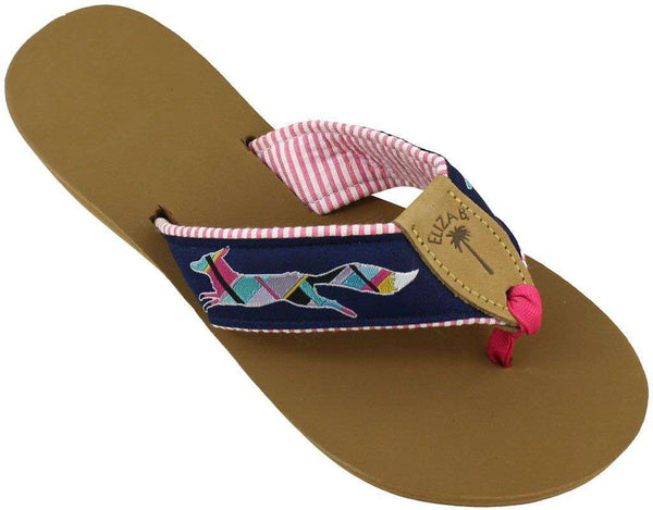 "Sandals - ""Longshanks"" Ribbon Sandal  By Eliza B. And Country Club Prep - FINAL SALE"
