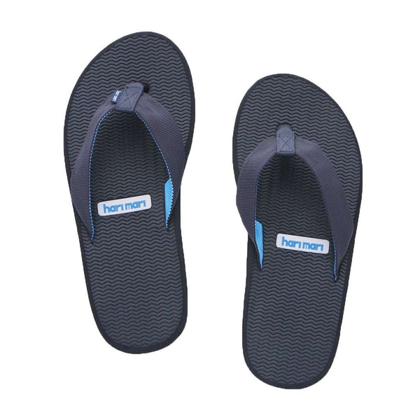 Men's Dunes Flip Flop in Black, Gray & Blue by Hari Mari