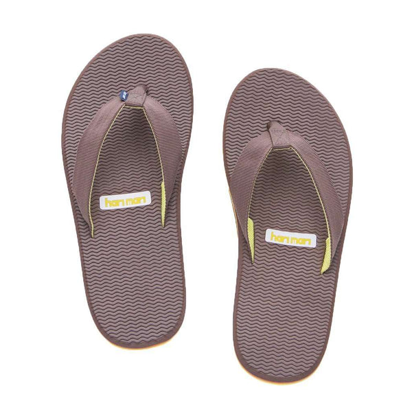 Sandals - Men's Dunes Flip Flop In Brown, Orange & Yellow By Hari Mari