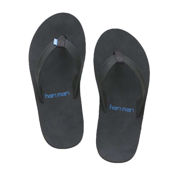 Men's Fields Flip Flop in Black, Blue & White by Hari Mari