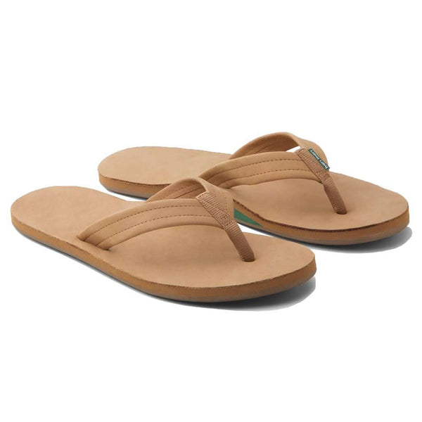 Sandals - Men's Fields Flip Flop In Green & Tan By Hari Mari