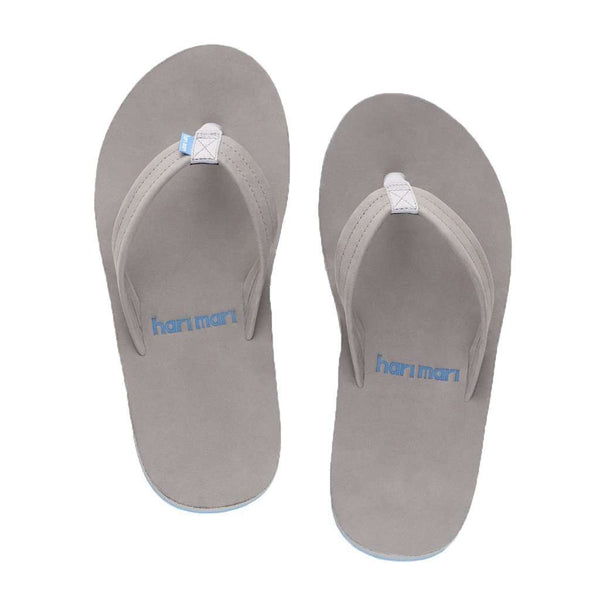 Sandals - Men's Fields Flip Flop In Light Gray, White & Sky Blue By Hari Mari