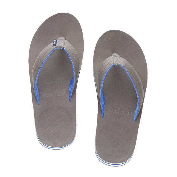Men's Lakes Flip Flops in Dark Gray & Neon Blue by Hari Mari