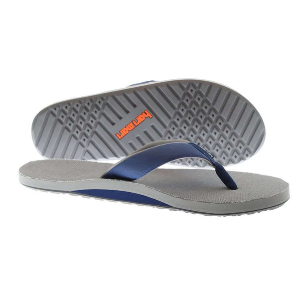 Men's Parks II Flip Flops in Navy & Gray by Hari Mari