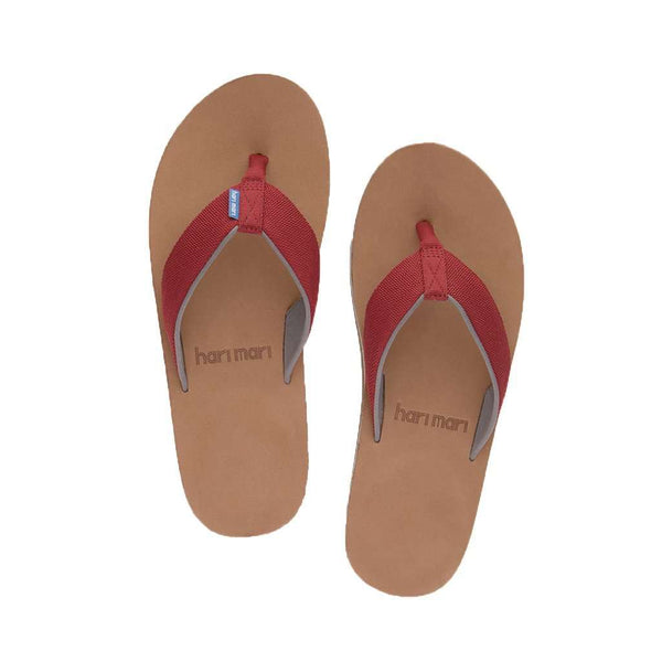 Men's Scouts Flip Flop in Dark Red & Gray by Hari Mari