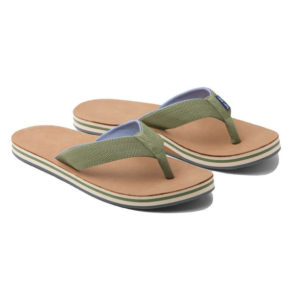 Sandals - Men's Scouts Flip Flop In Woods Green & Blue By Hari Mari