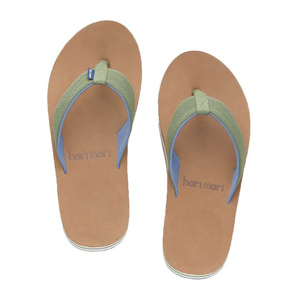 Men's Scouts Flip Flop in Woods Green & Blue by Hari Mari