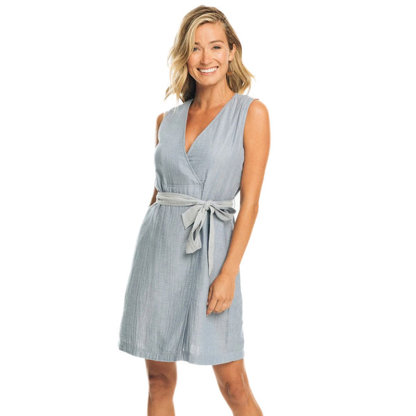 Saruh Sleeveless Chambray Dress by Southern Tide