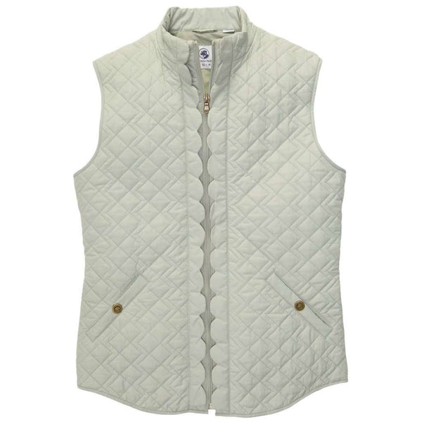 Scallop Vest in Desert Sage by Southern Proper  - 2