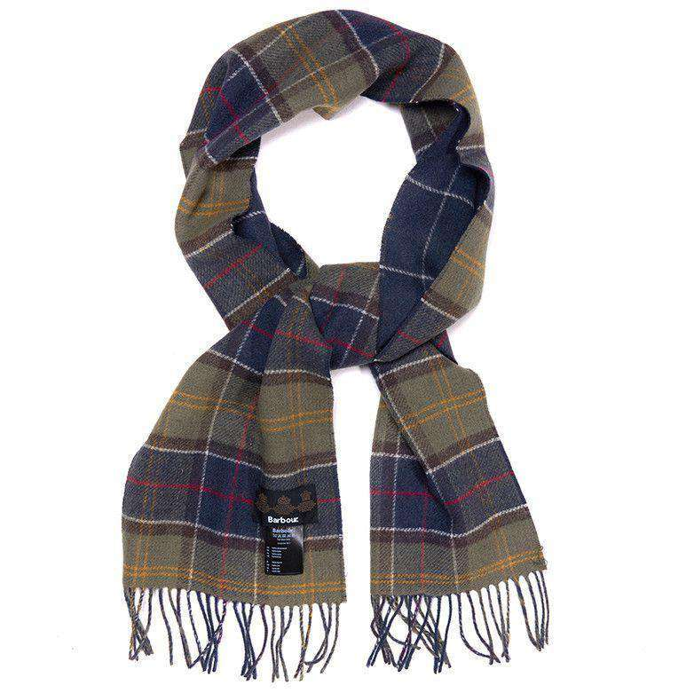 Aspen Tartan Scarf in Classic/Navy by Barbour